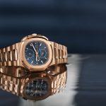 Patek Philippe Nautilus Chronograph Ref. 5990/1R Replica Watch in Rose Gold
